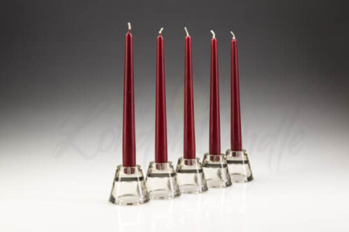 Wine Red Burgundy Dinner Candles