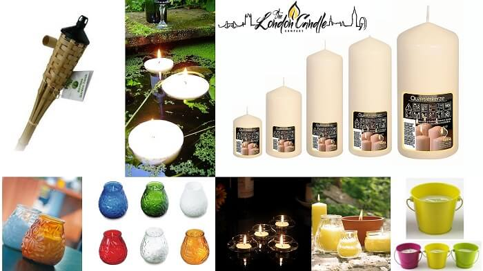 OUTDOOR CANDLES BAMBOO TORCHES CITRONELLA CANDLES