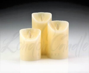 LED Battery Dancing Flame Pillar Candles