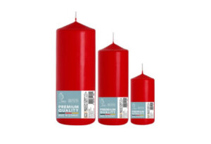 Red Pillar Candles