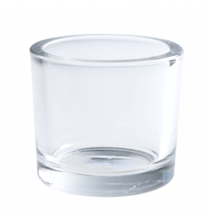 Chunky Clear Tea Light Holder