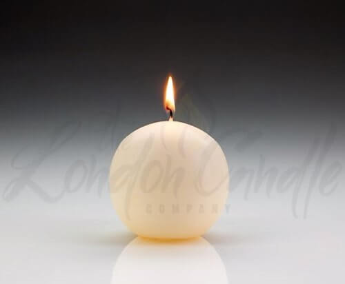 Ivory Ball Candles