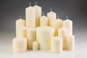 Ivory Pillar Candles