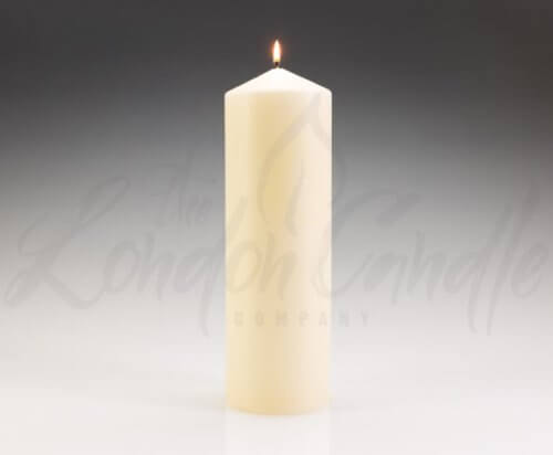 100mm x 300mm Ivory Pillar Candles