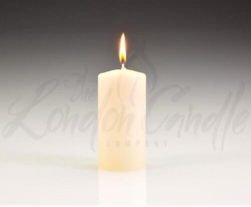 50mm x 100mm Ivory Pillar Candles