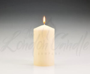 80mm x 150mm Ivory Pillar Candles
