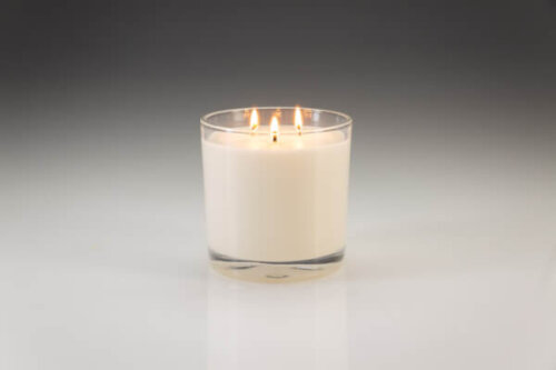 Large Three Wick Vanilla Scented Candle