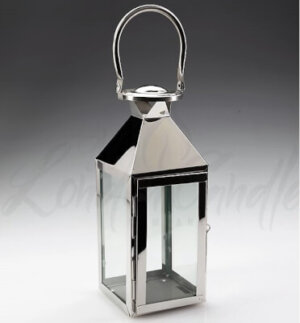 Stainless Steel Lantern 30cm Tall