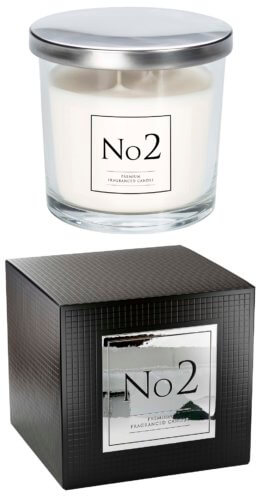 No 2 - Patchouli & Tropical Flower Two Wick Scented Candles