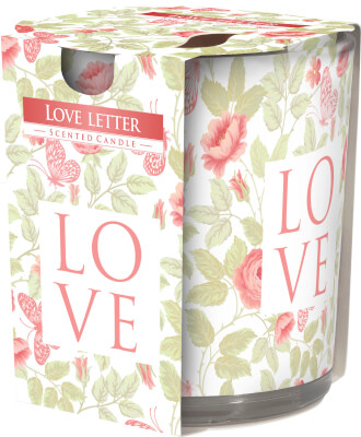 Scented Candle In Glass Love Letter