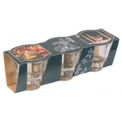 2 in 1 Glass Candle Holder Pack 3