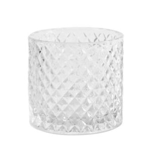 Clear Glass Diamond Tea Light Holder