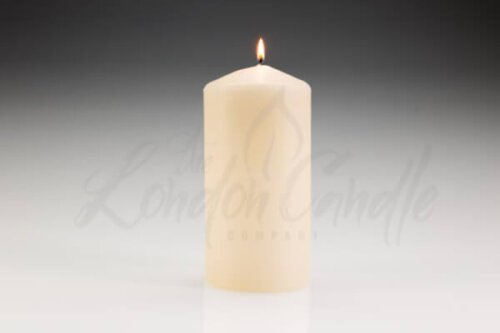 100mm x 200mm Ivory Pillar Candle