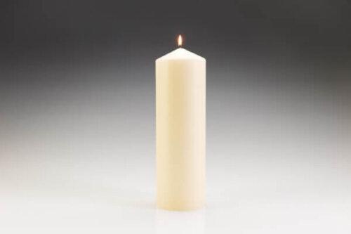 100mm x 300mm Ivory Pillar Candle