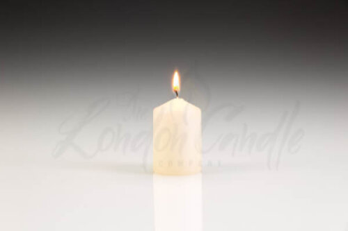 40mm x 60mm Ivory Pillar Candle