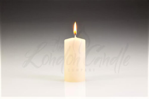 50mm x 100mm Ivory Pillar Candle