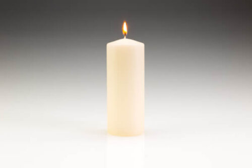 60mm x 150mm Ivory Pillar Candle