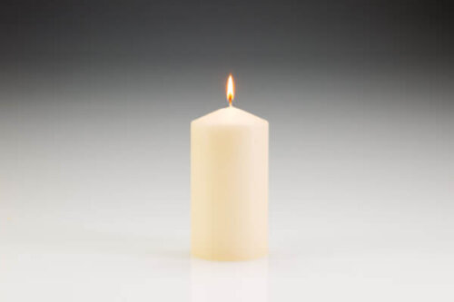 80mm x 150mm Ivory Pillar Candle