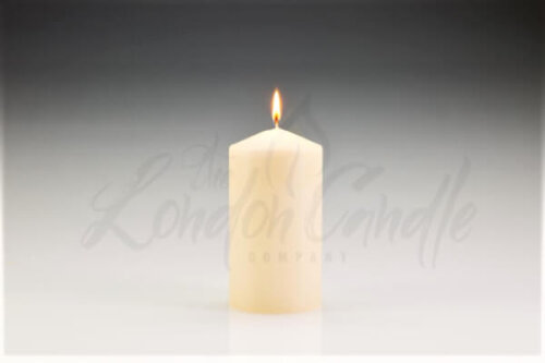80mm x 150mm Ivory Pillar Candle