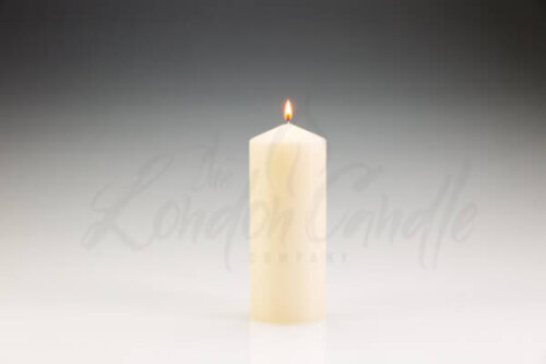 80mm x 200mm Ivory Pillar Candle