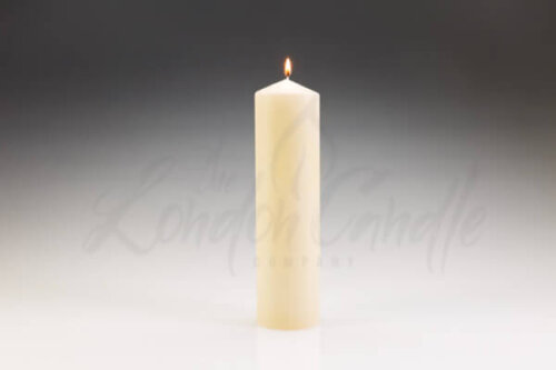 80mm x 300mm Ivory Pillar Candle