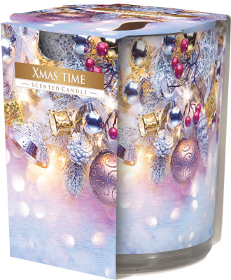 Christmas Scented Candle In Glass Xmas Time