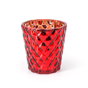 Diamond Sparkle Red Tea Light Holder
