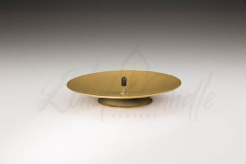 114mm Diameter Gold Metal Spiked Holder