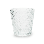 Clear Diamond Tea Light Holder