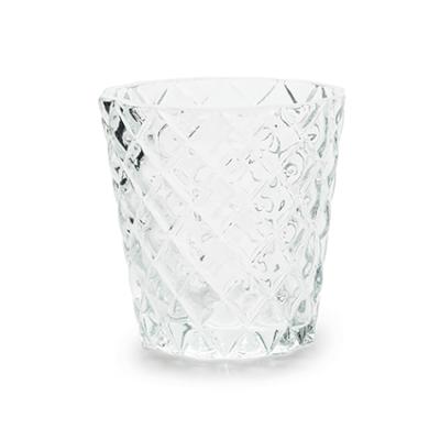 Clear Diamond Tea Light Holder