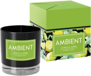 Ambient Scented Candle In Glass Citrus & Herbs