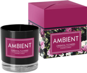 Ambient Candle In Glass Oriental Flowers