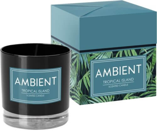 Ambient Candle In Glass Tropical Island