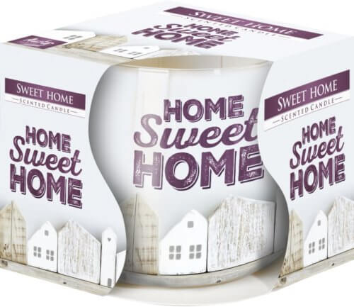 Scented Candle In Glass Home Sweet Home