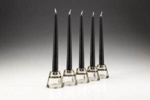 Black Dinner Candles