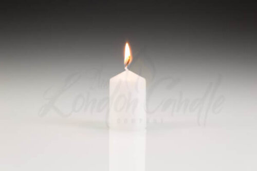 40mm x 60mm White Pillar Candle