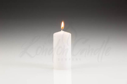 50mm x 100mm White Pillar Candle