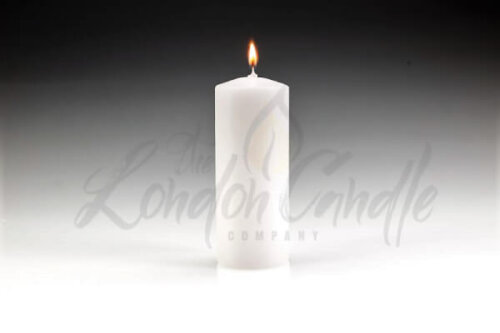 60mm x 150mm White Pillar Candle