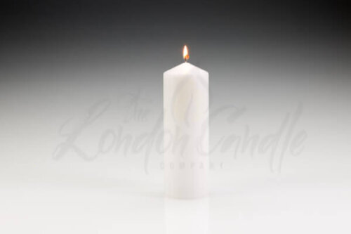 70mm x 200mm White Pillar Candle