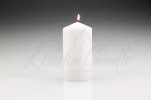 80mm x 150mm White Pillar Candle
