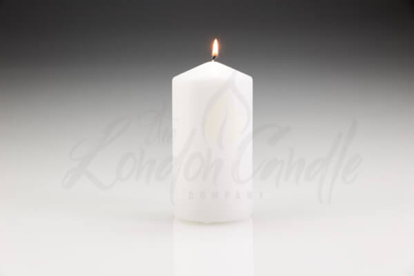 Table Candles Unscented Wedding Candles 60mm x 150mm Pillar Candles Ivory