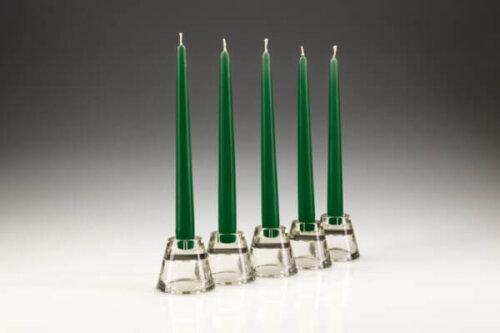Green Dinner Candles