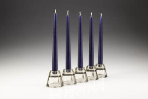 Dark Blue Dinner Candles