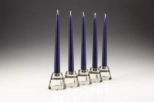 Dark Blue Dinner Candles