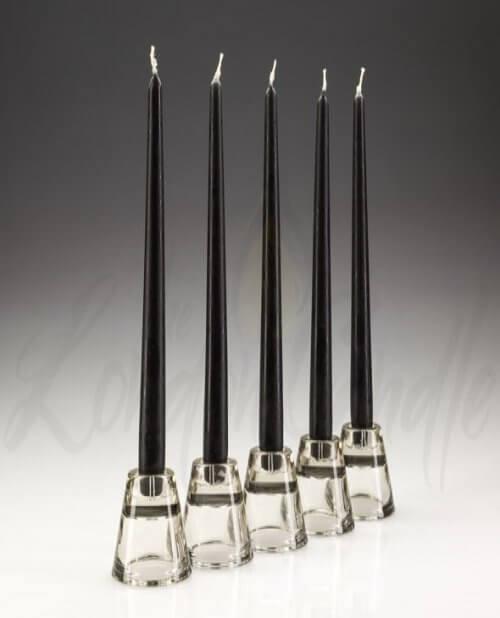 "15"" Black Dinner Candles"