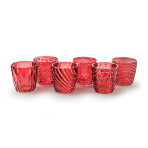 Red Tea Light Holder