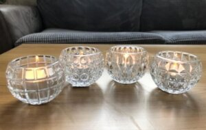 Clear Glass Tea Light Holder Assortment