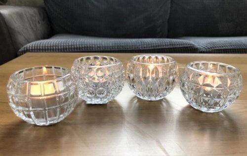 Clear Glass Tea Light Holder Assortment