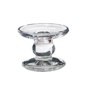 Glass Pillar Dinner Candle Holder