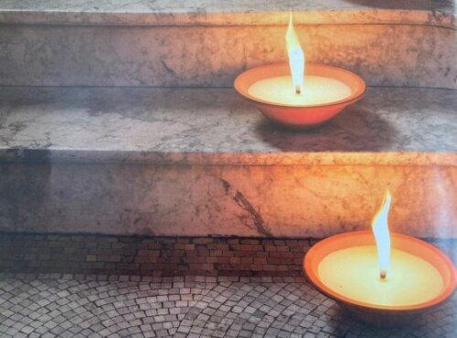 Terracotta Flame Bowl Lifestyle